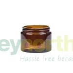 Amber Glass Uncapped Ointment Jars - 500ml