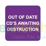 Status® Labels - Out of Date CD\'s Awaiting Destruction