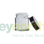 Clear Glass Ready Capped Ointment Jars - 30ml