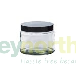 Clear Glass Ready Capped Ointment Jars - 500ml