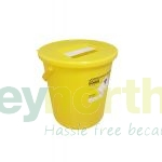 Sharps Bins - 22 Litre With Yellow Lid