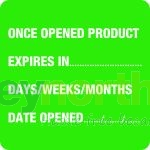 Status® Labels - Once Opened Product Expires In...