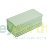 Green Single-Fold Hand Towels - 1 Ply