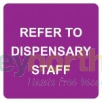 Status® Refer to Dispensary Staff Labels